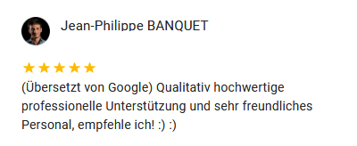 Google Rezension Banquet