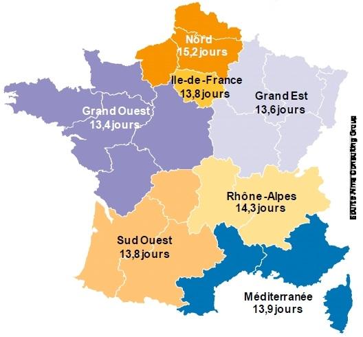 Fehlzeiten in Frankreich