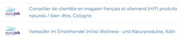 Deutsch-französische Stellenbezeichnung