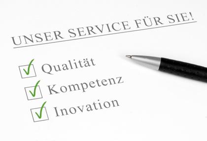Gewährleistung und Versicherung von Dienstleistungen in Frankreich